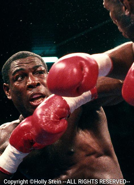 Frank Bruno v. Lennox Lewis.  Lewis WTKO7.  WBC Heavyweight title.