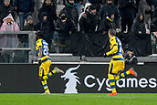 2nd February 2019, Allianz Stadium, Turin, Italy; Serie A football, Juventus versus Parma; Gervinho of Parma celebrates after scoring the goal for 3-3 against Juventus in the 90th minute
