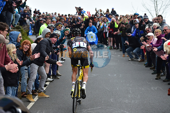 Thomas Voeckler (FRA) Direct Energie on one of the many climbs during Stage 3 of the Tour de Yorkshire 2017 running 194.5km from Bradford/Fox Valley to Sheffield, England. 30th April 2017. <br /> Picture: ASO/P.Ballet | Cyclefile<br /> <br /> <br /> All photos usage must carry mandatory copyright credit (&copy; Cyclefile | ASO/P.Ballet)