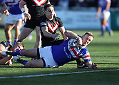 3rd February 2019, Trailfinders Sports Ground, London, England; Betfred Super League rugby, London Broncos versus Wakefield Trinity; Craig Kopczak of Wakefield Trinity goes over for a try