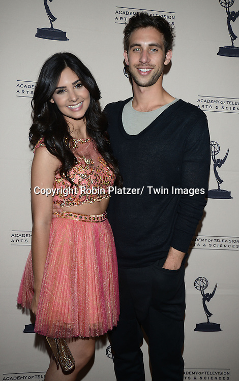 Camilla Banus and Blake Berris attends the Academy Of Television Arts & Science Daytime Programming  Peer Group Celebration for the 40th Annual Daytime Emmy Awards Nominees party on June 13, 2013 at the Montage Beverly Hills in Beverly Hills, California.