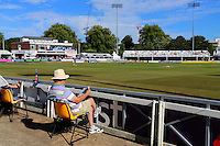 A spectator awaits the start of play during Essex CCC vs Glamorgan CCC, Specsavers County Championship Division 2 Cricket at the Essex County Ground on 12th September 2016
