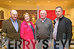 Pictured at Fitzgibbon Interiors, opening on Friday evening were l-r: Maurice and Jane O'Keeffe with Paddy O'Sullivan and Frank Dillane.
