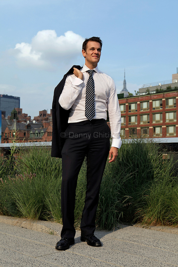 Brian Ellner, a former Bloomberg administration official who oversaw the Campaign for New York Marriage, poses for a portrait at the High Line park in Chelsea. ..Danny Ghitis for The New York Times