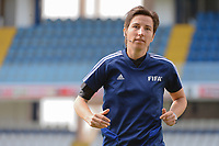 20190304 - LARNACA , CYPRUS : German assistant referee Katrin Rafalski pictured during a women's soccer game between Czech Republic and South Africa , on Monday 4 March 2019 at the Antonis Papadopoulos Stadium in Larnaca , Cyprus . This is the third game in group A for Both teams during the Cyprus Womens Cup 2019 , a prestigious women soccer tournament as a preparation on the Uefa Women's Euro 2021 qualification duels. PHOTO SPORTPIX.BE | STIJN AUDOOREN