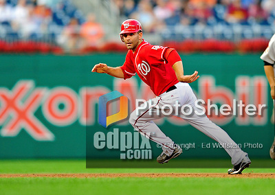 23 September 2010: Washington Nationals infielder Danny Espinosa in action against the Houston Astros at Nationals Park in Washington, DC. The Nationals defeated the Astros 7-2 for their third consecutive win, taking the series three games to one. Mandatory Credit: Ed Wolfstein Photo