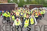 Transition year students from Tralee CBS the Green leave the School for a sponsored cycle to Ballyheigue on Thursday in aid of 700 palliative Care unit in Kerry General Hospital and The Mercy Unit in Cork.
