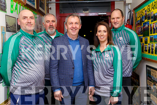 Ballyduff Ladies GAA Awards: Pictured at the Ballyduff Ladies GAA awards night on Friday night last at Ballyduff NS were Maurice Dunworth, Mike Moriarity, Kerry Manager Peter Keane & Helen & TJ O'Connor
