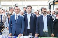 Presentazione dei candidati al consiglio comunale di Napoli del movimento cinque stelle<br /> Luigi Di Maio Matteo Brambilla, Roberto Fico