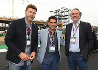 Mauricio Pochettino, Jesus Perez and guest during the Formula 1 Rolex British Grand Prix 2019 at Silverstone Circuit, Towcester, England on 14 July 2019. Photo by Vince  Mignott.