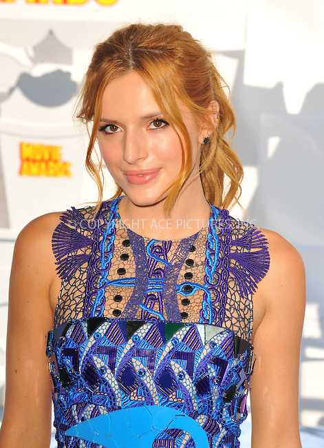 WWW.ACEPIXS.COM<br /> <br /> April 12 2015, LA<br /> <br /> Bella Thorne arriving at the 2015 MTV Movie Awards at the Nokia Theatre L.A. Live on April 12, 2015 in Los Angeles, California.<br /> <br /> By Line: Peter West/ACE Pictures<br /> <br /> <br /> ACE Pictures, Inc.<br /> tel: 646 769 0430<br /> Email: info@acepixs.com<br /> www.acepixs.com