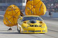 Apr. 26, 2013; Baytown, TX, USA: NHRA pro mod driver Troy Coughlin during qualifying for the Spring Nationals at Royal Purple Raceway. Mandatory Credit: Mark J. Rebilas-