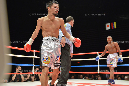 Kohei Kono (JPN),<br /> MAY 6, 2013 - Boxing :<br /> Kohei Kono of Japan walks to a neutral corner after knocking down Liborio Solis of Venezuela in the second round during the WBA super flyweight title bout at Ota-City General Gymnasium in Tokyo, Japan. (Photo by Hiroaki Yamaguchi/AFLO)