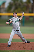 Dartmouth Big Green relief pitcher Michael Parsons (22) delivers a pitch during a game against the USF Bulls on March 17, 2019 at USF Baseball Stadium in Tampa, Florida.  USF defeated Dartmouth 4-1.  (Mike Janes/Four Seam Images)