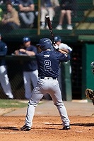 Austin Turgeon (2) of the Wingate Bulldogs at bat against the Catawba Indians at Newman Park on March 19, 2017 in Salisbury, North Carolina. The Indians defeated the Bulldogs 12-6. (Brian Westerholt/Four Seam Images)