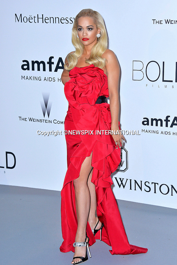 12.05.2015, Antibes; France: RITA ORA<br /> attends the Cinema Against AIDS amfAR gala 2015 held at the Hotel du Cap, Eden Roc in Cap d'Antibes.<br /> MANDATORY PHOTO CREDIT: &copy;Thibault Daliphard/NEWSPIX INTERNATIONAL<br /> <br /> (Failure to credit will incur a surcharge of 100% of reproduction fees)<br /> <br /> **ALL FEES PAYABLE TO: &quot;NEWSPIX  INTERNATIONAL&quot;**<br /> <br /> Newspix International, 31 Chinnery Hill, Bishop's Stortford, ENGLAND CM23 3PS<br /> Tel:+441279 324672<br /> Fax: +441279656877<br /> Mobile:  07775681153<br /> e-mail: info@newspixinternational.co.uk