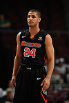 March 6, 2015; Las Vegas, NV, USA; Pacific Tigers forward David Taylor (24) looks on against the San Francisco Dons during the first half of the WCC Basketball Championships at Orleans Arena.