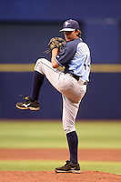 Tampa Bay Rays pitcher Brent Honeywell (44) during an Instructional League game against the Boston Red Sox on September 25, 2014 at Tropicana Field in St. Petersburg, Florida.  (Mike Janes/Four Seam Images)