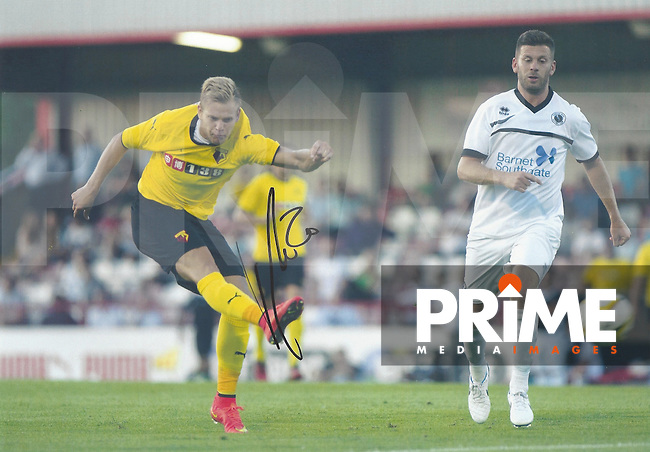 Matej Vydra of Watford Signed Photos at Borehamwood FC, England on July 2014. Photo by Andy Rowland.