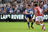 Freddie Burns of Bath Rugby in possession. Gallagher Premiership match, between Bath Rugby and Gloucester Rugby on September 8, 2018 at the Recreation Ground in Bath, England. Photo by: Patrick Khachfe / Onside Images