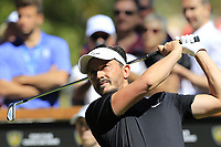 Mike Lorenzo-Vera (FRA) tees off the 6th tee during Sunday's Final Round 4 of the 2018 Omega European Masters, held at the Golf Club Crans-Sur-Sierre, Crans Montana, Switzerland. 9th September 2018.<br /> Picture: Eoin Clarke | Golffile<br /> <br /> <br /> All photos usage must carry mandatory copyright credit (&copy; Golffile | Eoin Clarke)