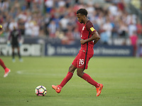 Commerce City, CO - Thursday June 08, 2017: Kellyn Acosta during a 2018 FIFA World Cup Qualifying Final Round match between the men's national teams of the United States (USA) and Trinidad and Tobago (TRI) at Dick's Sporting Goods Park.