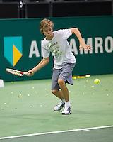 Rotterdam, The Netherlands. 16.02.2014. ABN AMRO World tennis Tournament of 2014, Alec Deckers<br /> Photo:Tennisimages/Henk Koster