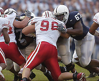05 November 2005: Penn State tackle Levi Brown (67)..The Penn State Nittany Lions defeated the Wisconsin Badgers 35-14 November 5, 2005 at Beaver Stadium in State College, PA..