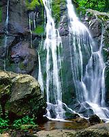 Shenandoah National Park Dark Hollow Falls moss water rocks green Virginia