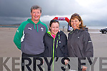 John, Laurie and Katina  McNamara, at the The Brandon Bay half marathon and 10k run, Ireland's first and only running event entirely run on a beach,  in the Maharees, Castlegregory,  on Saturday