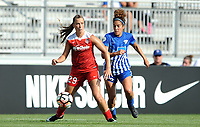 Boyds, MD - Saturday August 12, 2017: Meggie Dougherty Howard, Angela Salem during a regular season National Women's Soccer League (NWSL) match between the Washington Spirit and The Boston Breakers at Maureen Hendricks Field, Maryland SoccerPlex.