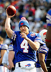 29 November 2009: Buffalo Bills' quarterback Brian Brohm warms up prior to a game against the Miami Dolphins at Ralph Wilson Stadium in Orchard Park, New York. The Bills defeated the Dolphins 31-14. Mandatory Credit: Ed Wolfstein Photo