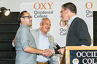 Carolyn Deanne Adams Memorial Award, Marc Campos<br /> The Occidental College Human Resources Department hosts Employee Recognition Day on Thursday, May 23, 2019 in Rush Gym. Distinguished service awards were presented for service and excellence, in addition to annual recognition for yearly milestones.<br /> <br /> (Photo by Don Milici, Freelance)