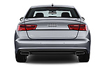 Straight rear view of a 2018 Audi A6 Base 4 Door Sedan stock images