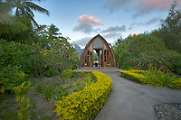 Chapel at Four Seasons hotal. Bora Bora. French Polynesia