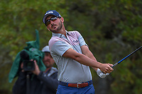 Andrew Landry (USA) watches his tee shot on 2 during Round 3 of the Valero Texas Open, AT&amp;T Oaks Course, TPC San Antonio, San Antonio, Texas, USA. 4/21/2018.<br /> Picture: Golffile | Ken Murray<br /> <br /> <br /> All photo usage must carry mandatory copyright credit (&copy; Golffile | Ken Murray)