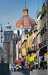 Mexico, Mexico City, Emiliano Zapata Street, Pedestrian Way, Iglesia de la Santisima Trinidad