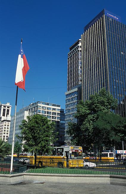 Santiago de Chili. Av. Libertador B. O'Higgins. *** Buildings on Av. Libertador B. O'Higgins, Santiago de Chili.