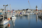 Oceanside, California Harbor on a beautiful, sunny day.
