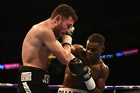 Joshua Buatsi (white shorts) defeats Jordan Joseph during a Boxing Show at The O2 on 3rd February 2018