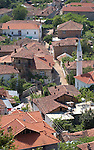 Lin-Pogradec-Albania - August 02, 2004---Partial view of the village of Lin, with its mosque, at Lake Ohrid; region/village of project implementation by GTZ-Wiram-Albania (German Technical Cooperation, Deutsche Gesellschaft fuer Technische Zusammenarbeit (GTZ) GmbH); religion---Photo: © HorstWagner.eu