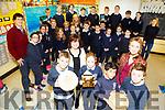 "Ardfert School wins ""FIS National Award in Film making at the Helix on Last Wednesday Showing off theri prizes, Oisin O'Halloran,Kaci Heather,Rodrigo Pinho,Kristen Lyne, Mrs Joan Holland and Ms Dolores Martin (teacher)"
