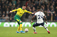 Norwich City's Josip Drmic and Tottenham Hotspur's Serge Aurier<br /> <br /> Photographer Rob Newell/CameraSport<br /> <br /> The Emirates FA Cup Fifth Round - Tottenham Hotspur v Norwich City - Wednesday 4th March 2020 - Tottenham Hotspur Stadium - London<br />  <br /> World Copyright © 2020 CameraSport. All rights reserved. 43 Linden Ave. Countesthorpe. Leicester. England. LE8 5PG - Tel: +44 (0) 116 277 4147 - admin@camerasport.com - www.camerasport.com