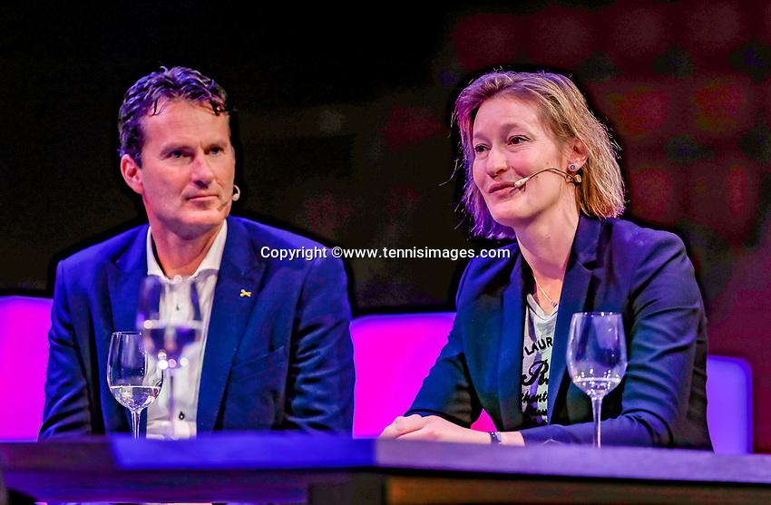 Rotterdam, Netherlands, December 15,  2017, Topsportcentrum,  Coaches Congress, Jacco Eltingh and Marjolein Notten<br /> Photo: Tennisimages/Henk Koster