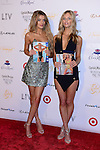 MIAMI BEACH, FL - FEBRUARY 19: Bregje Heinen  and Marloes Horst attends Sports Illustrated Hosts 'Club SI' at LIV nightclub at Fontainebleau Miami on February 19, 2014 in Miami Beach, Florida. (Photo by Johnny Louis/jlnphotography.com)