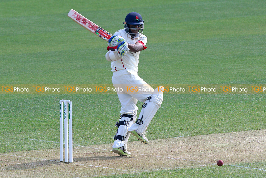 Shivnarine Chanderpaul hits out for Lancashire during Essex CCC vs Lancashire CCC, Specsavers County Championship Division 1 Cricket at The Cloudfm County Ground on 7th April 2017