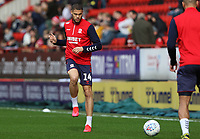 Rudy Gestede of Middlesbrough warming up during Charlton Athletic vs Middlesbrough, Sky Bet EFL Championship Football at The Valley on 7th March 2020