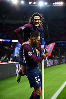 Celebration Esultanza des joueurs du PSG apres le second but de KURZAWA Layvin (PSG) <br /> Parigi 31-10-2017 <br /> Paris Saint Germain - Anderlecht Champions League 2017/2018<br /> Foto Panoramic / Insidefoto