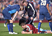 02/05/16 Sky Bet League Championship  Burnley v QPR<br /> Sam Vokes clattered