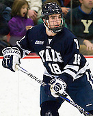 Kenny Agostino (Yale - 18) - The Yale University Bulldogs defeated the Harvard University Crimson 5-1 on Saturday, November 3, 2012, at Bright Hockey Center in Boston, Massachusetts.